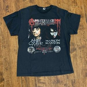 Distressed Marilyn Manson Alice Cooper Tour Shirt